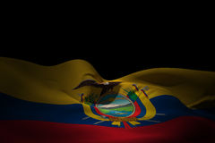 Composite image of ecuador flag waving Royalty Free Stock Images