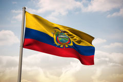 Composite image of ecuador national flag Royalty Free Stock Image