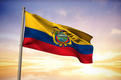 Composite image of ecuador national flag Royalty Free Stock Images