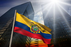 Composite image of ecuador national flag Stock Photography