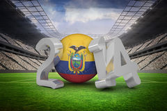 Composite image of ecuador world cup 2014 Royalty Free Stock Photo