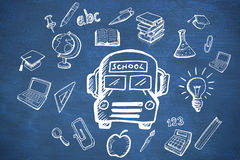 Composite image of education doodles Royalty Free Stock Photography