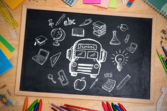 Composite image of education doodles Royalty Free Stock Photos
