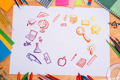 Composite image of education doodles Stock Image