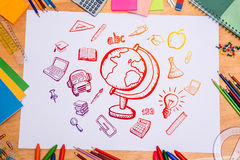 Composite image of education doodles Stock Photos