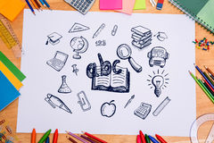 Composite image of education doodles Stock Photo