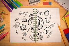 Composite image of education doodles Stock Photography