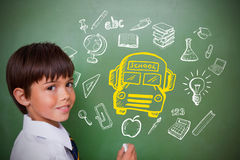 Composite image of education doodles Royalty Free Stock Image
