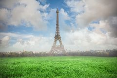 Composite of image of a Eiffel Tower Stock Photo