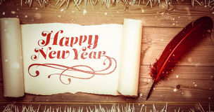 Composite image of elegant happy new year Royalty Free Stock Photo