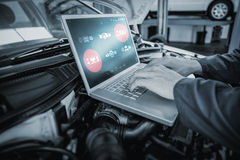 Composite image of engineering interface Stock Images
