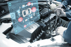 Composite image of engineering interface Royalty Free Stock Photos