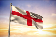 Composite image of england national flag Royalty Free Stock Image
