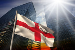 Composite image of england national flag Stock Photography