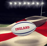 Composite image of england rugby ball Royalty Free Stock Photo