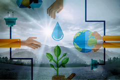 Composite image of environment graphics Royalty Free Stock Image