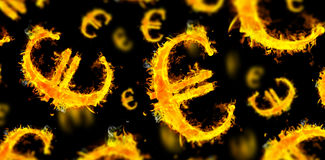 Composite image of euro sign on fire Royalty Free Stock Photography