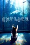 Composite image of explore Stock Photo