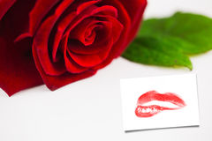 Composite image of extreme close up on gorgeous red lips Stock Photos