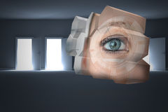 Composite image of eye interface on abstract screen Royalty Free Stock Photo