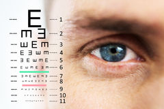 Composite image of eye test Stock Image