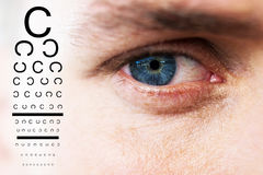Composite image of eye test Royalty Free Stock Photography