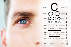 Composite image of eye test Stock Images