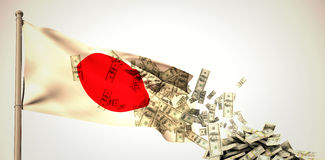 Composite image of falling dollars Stock Photography