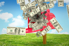 Composite image of falling money Stock Images