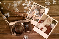 Composite image of family christmas portrait stock image
