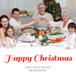 Composite image of family drinking a toast in a christmas dinner Stock Photography