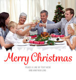 Composite image of family drinking a toast in a christmas dinner Royalty Free Stock Images
