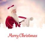 Composite image of father christmas writes a list Stock Photos