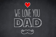 Composite image of fathers day greeting Royalty Free Stock Image