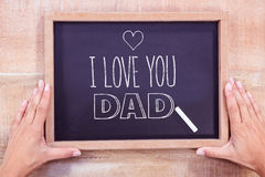 Composite image of fathers day greeting Royalty Free Stock Photo