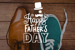 Composite image of fathers day greeting Stock Photo