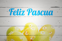 Composite image of feliz pasqua Royalty Free Stock Image