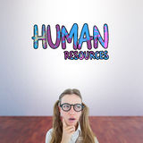 Composite image of female geeky hipster looking confused Royalty Free Stock Photo