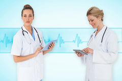 Composite image of female medical team Royalty Free Stock Image