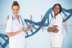 Composite image of female medical team Stock Image