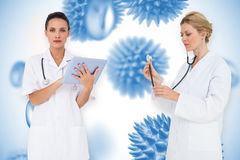 Composite image of female medical team Royalty Free Stock Photography
