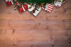 Composite image of festive christmas wreath Royalty Free Stock Image