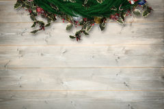 Composite image of festive christmas wreath Royalty Free Stock Images