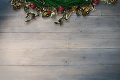 Composite image of festive christmas wreath Royalty Free Stock Photography