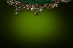Composite image of festive christmas wreath Royalty Free Stock Photos