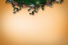 Composite image of festive christmas wreath Royalty Free Stock Photo