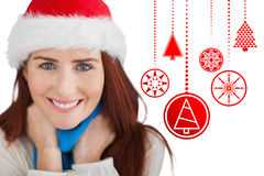 Composite image of festive redhead Stock Image