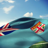 Composite image of fiji flag Royalty Free Stock Photos