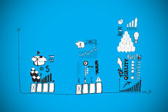 Composite image of finance and banking doodles Royalty Free Stock Photo