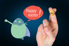 Composite image of fingers as easter bunny Stock Image